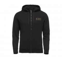 HERITAGE LOGO FULL ZIP HOODY BLACK