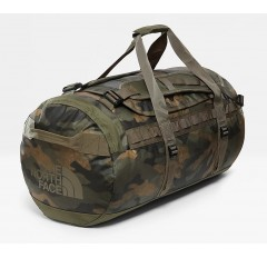 BASE CAMP DUFFEL M BURNT OLIVE GREEN WAXED CAMO