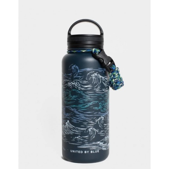 32 OZ INSULATED STEEL BOTTLE WAVES NAVY