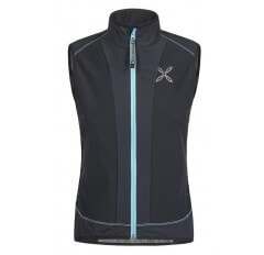 X MIRA VEST WOMAN NERO ICE BLUE